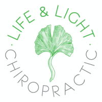 Life & Light Chiropractic leaf.